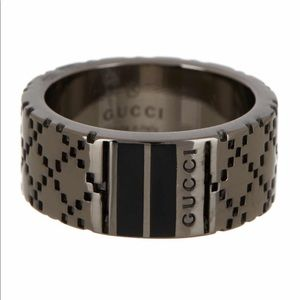 Sterling silver Gucci Dtissima band